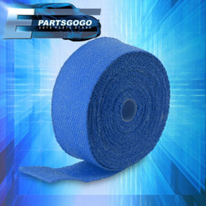 """30ft x 2 x 15mm blue high temperature exhaust heat wrap kit thermo shield pipe 30FT X 2"""" X 1.5mm Blue High Temperature Exhaust Heat Wrap Kit Thermo Shield Pipe"""