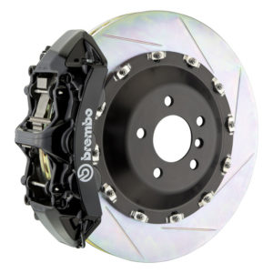 brembo gt 405x34 2 piece 6 piston black slotted front big brake kit Brembo GT 405x34 2-Piece 6 Piston Black Slotted Front Big Brake Kit