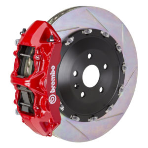 brembo gt 405x34 2 piece 6 piston red slotted front big brake kit Brembo GT 405x34 2-Piece 6 Piston Red Slotted Front Big Brake Kit