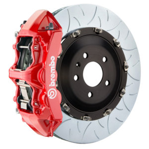 brembo gt 405x34 2 piece 6 piston red slotted type 3 front big brake kit Brembo GT 405x34 2-Piece 6 Piston Red Slotted Type-3 Front Big Brake Kit