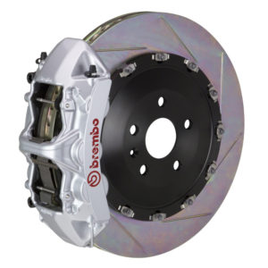 brembo gt 405x34 2 piece 6 piston silver slotted front big brake kit Brembo GT 405x34 2-Piece 6 Piston Silver Slotted Front Big Brake Kit