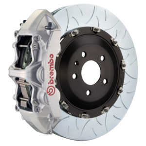 brembo gt 405x34 2 piece 6 piston silver slotted type 3 front big brake kit Brembo GT 405x34 2-Piece 6 Piston Silver Slotted Type-3 Front Big Brake Kit