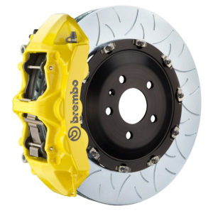 brembo gt 405x34 2 piece 6 piston yellow slotted type 3 front big brake kit Brembo GT 405x34 2-Piece 6 Piston Yellow Slotted Type-3 Front Big Brake Kit