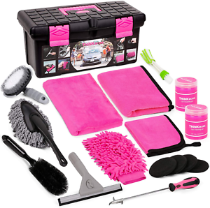 car wash kit pink car cleaning kit interior and exterior car accessories for w Car Wash Kit, Pink Car Cleaning Kit Interior and Exterior, Car Accessories for W