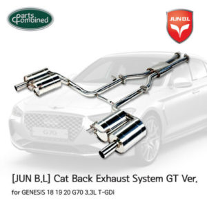 cat back exhaust system gt ver for genesis 18 19 20 g70 33l t gdi jun bl Cat Back Exhaust System GT Ver. for GENESIS 18 19 20 G70 3.3L T-GDi [JUN B.L]