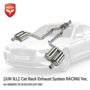 cat back exhaust system racing ver for genesis 18 19 20 g70 20t gdi jun bl Cat Back Exhaust System RACING Ver. for GENESIS 18 19 20 G70 2.0T-GDi [JUN B.L]