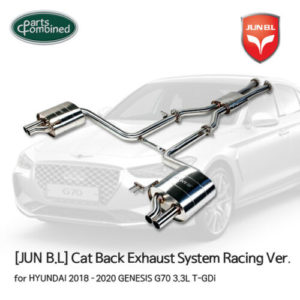 cat back exhaust system racing ver for genesis 18 19 20 g70 33l t gdi junbl Cat Back Exhaust System Racing Ver. for GENESIS 18 19 20 G70 3.3L T-GDi [JUNB.L]