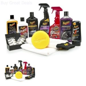 complete car care kit meguiars wash wax detail interior exterior quality new Complete Car Care Kit Meguiar's Wash Wax Detail Interior Exterior Quality New