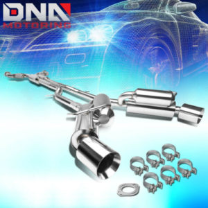 """for 2009 2020 nissan 370z slip fit catback exhaust system w dual muffler 45 tip FOR 2009-2020 NISSAN 370Z SLIP FIT CATBACK EXHAUST SYSTEM W/DUAL MUFFLER 4.5""""TIP"""