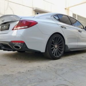 new m s abs matte black rear diffuser for genesis g70 17 19 New M&S ABS Matte Black Rear Diffuser for Genesis G70 17-19