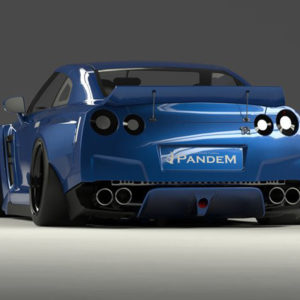 pandem v2 frp duck tail wing nissan gt r r35 2009 2021 Pandem V2 FRP Duck Tail Wing Nissan GT-R R35 2009-2021