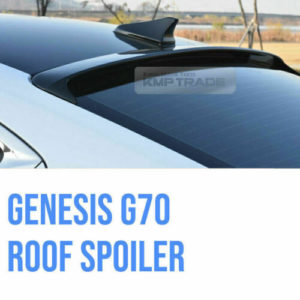 rear roof glass wing spoiler black painted aero for hyundai 2018 genesis g70 Rear Roof Glass Wing Spoiler Black Painted Aero for Hyundai 2018 Genesis G70