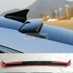 rear roof glass wing spoiler black painted for hyundai 2018 19 20 genesis g70 1 Home