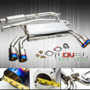 """stainless steel catback exhaust 65mm 35 quad tip for 2010 2014 hyundai genesis Stainless Steel Catback Exhaust 65mm 3.5"""" Quad Tip For 2010-2014 Hyundai Genesis"""