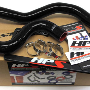TL7eQquCLa HPS Nissan 09-13 GTR High Temp Reinforced Silicone Radiator Hose Kit Coolant OEM Replacement - Black